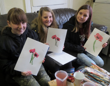 paint a poppy sunderland